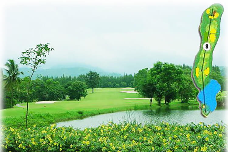 Sirjames Resort Khaoyai Golf Course Layout